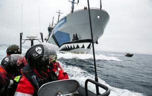"Sea Shepherd Global; ""this rogue act is blatant disregard of international law and diplomacy, and sets a dangerous precedent for all nations that respect rule of law."""