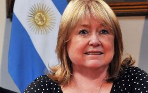 Not a word was mentioned by minister Malcorra in her official statement regarding the Falklands/Malvinas and South Atlantic Islands dispute.