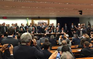 PMDB in a few minutes decided unanimously that its six ministers in Rousseff's Cabinet and all other party members in government resign immediately.