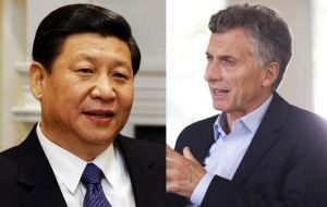 "As to the possible meeting of Macri with Xi Jinping, allegedly on Friday, ""The Chinese delegation in Washington will inform the media at the right time"""