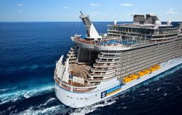 Oasis of the Seas, the world's second largest cruise ship, set sail from Fort Lauderdale in Florida, carrying 6,400 passengers on a nine-night Caribbean cruise