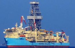 "The well was spud at the ""Raya/1"" prospect in Block 14 by the Maersk/Venturer drilling ship"