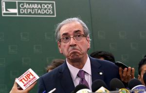 Eduardo Cunha ex PMDB and promoter of the impeachment process against the Brazilian president, figures with Penbur Holding