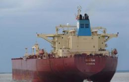 The tanker Krymsk was loaded with 500,000 barrels of West Texas Intermediate crude at the U.S. Gulf Coast on March 28. It will arrive in Curacao this week.