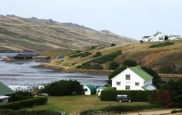 A view of Port Howard, which has been a pioneer in Falklands' farming