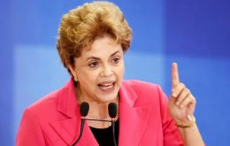 """If there were any doubts about my denunciation that a coup is underway, there can't be now. The coup plotters have a leader and a deputy leader,"" Rousseff said"