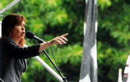 """They can put me in prison, but they can't silence me,"" said Cristina Fernández on Wednesday to a jubilant crowd that had waited most of the morning in the rain"
