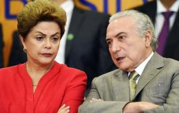 Politicians have begun to flock to the residence of the man who would replace Rousseff if she is convicted, Vice President Michel Temer to declare their support
