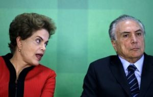 Rousseff insisted she had committed no impeachable crime and accused Temer of openly conspiring to topple her government in what she described as a 'coup'.