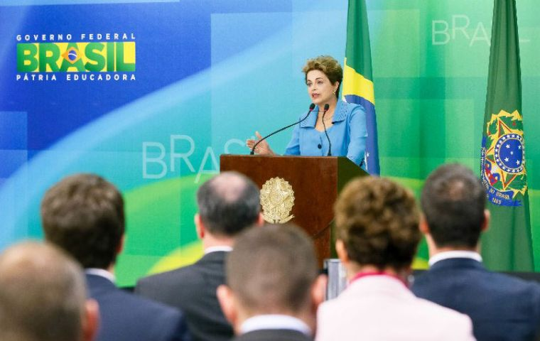 """I have the force, the spirit and the courage to fight this whole process to the end"" Rousseff said. ""This is just the beginning of the battle"""