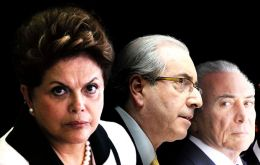The release warns that if the coup prospers Rousseff will be replaced by Temer and Cunha both under investigation for corruption