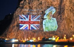 Gibraltar will mark the Queen's 90th birthday with her image projected onto the North face of the Rock.