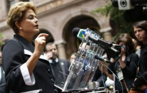 """In the past, coups were carried out with machine guns, tanks and weapons, today all you need are hands that are willing to tear up the Constitution"", said Rousseff"