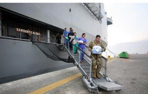 Chilean navy amphibious vessel Sargento Aldea will become a floating clinic for medical, dentistry and minor surgery with naval doctors and specialists.