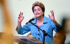 Rousseff has repeatedly claimed that there is a coup in process to remove her from office