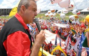 """We do not recognize a government that no one elected,"" Vagner Freitas, president of the Unified Workers' Central, CUT, Brazil's main labor federation"