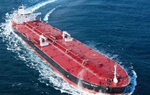 The second cargo, on tanker Nordic Zenith, is carrying 925,000 barrels for China's CNR and it is expected to arrive in early June