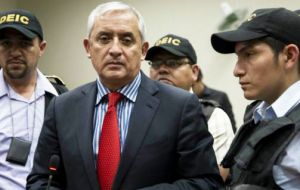 The largest protests in Guatemala in decades, forced President Otto Perez Molina to resign. He's awaiting trial on charges of taking kickbacks and other crimes.