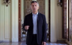 "President Mauricio Macri sent a message of acknowledgement ""to the next of kin of the 55 heroes of the Air Force and all Malvinas veterans""."