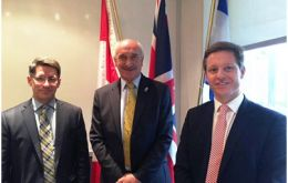 MLA Mike Summers (C) with British Consul General in Montreal Nick Baker & Economist Mario Iacobacci