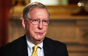 Republican leader of the Senate, Mitch McConnell of Kentucky, issued the most cautious of statements after it became clear Trump would become the nominee.