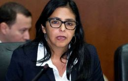 """Venezuela has permanently been threatened by opposition forces in conjunction with imperial centers that support destabilization"" claimed Delcy Rodriguez"
