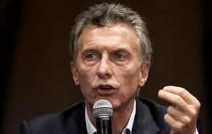 Macri, who took office in December, has allowed the currency to float freely and removed most export tariffs as he seeks to stem surging inflation.