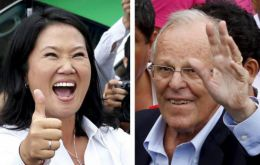 The latest Ipsos poll, published by daily newspaper El Comercio, showed Fujimori with 42% support compared with Kuczynski's 39%.
