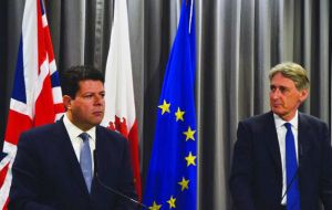 Hammond, the first foreign secretary to visit Gibraltar since 2009, spent a full day of talks in the Rock and met with Chief Minister Fabian Picardo