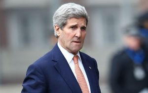 "U.S. Secretary of State John Kerry said tens of billions of dollars in stolen money, that could be used for education, are hidden in banks ""in countries including ours."""
