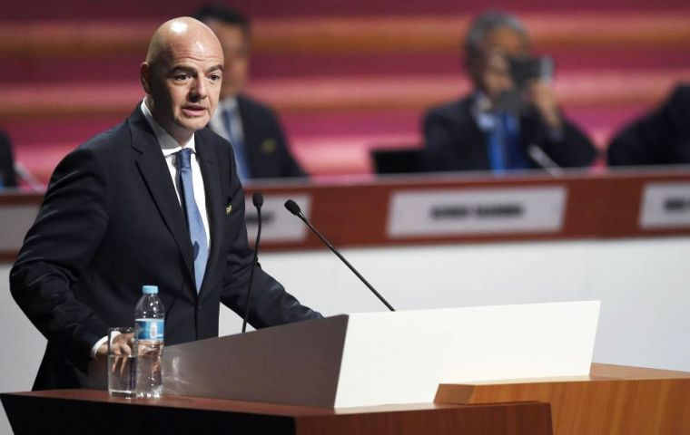 The resignation marks the first major challenge to Mr Infantino's presidency since he was elected to succeed Sepp Blatter in February.