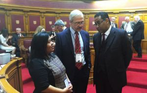 Cherie Clifford, MLA Dr. Barry Elsby meet CPA Secretary General Akbar Khan at the States of Assembly in the island of Jersey