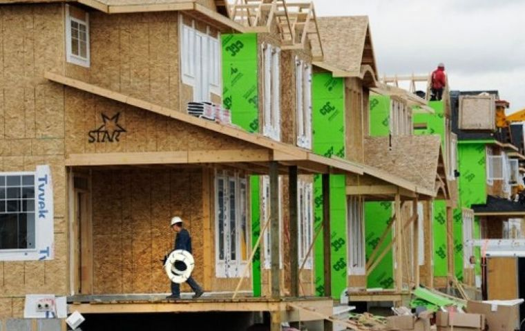 Commerce Department figures showed housing starts rose by 6.6% in April to a seasonally adjusted annual pace of 1.17 million units.