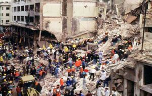 The Israeli embassy in 1992 and the Jewish organization AMIA in 1994  were razed to the ground killing dozens and injuring hundreds.