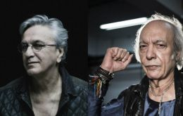 Caetano Veloso and Erasmo Carlos, pioneers of Brazil's rock music movements, held a protest concert in the Education building in Rio de Janeiro last Friday