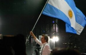 Paul playing in Cordoba where he filled a stadium with 55.000 fans