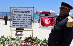 In Tunisia, 30 British tourists were among 38 killed at a beach resort near Sousse last June in another attack claimed by IS jihadists.