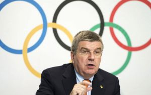 IOC President Thomas Bach said in February that the spread of the mosquito-borne virus across South America would not adversely affect the Games in Rio