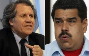 "The president accused Almagro of ""usurping his functions"" by becoming ""a supranational power above the OAS Charter and above Venezuela's Constitution."""