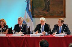 Ambassador Foradori and advisors during the presentation on March 28