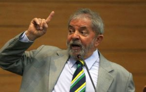 """After the coup, Globo simply took Dilma off the air as if she did not exist or had never existed"", claimed Lula."