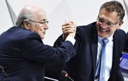 Sepp Blatter and Jerome Valcke, when they ruled undisputedly in FIFA