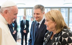 "The Foreign minister said that ""there was no animosity at all toward the president"" from the pope and that the conversation had been very rewarding."