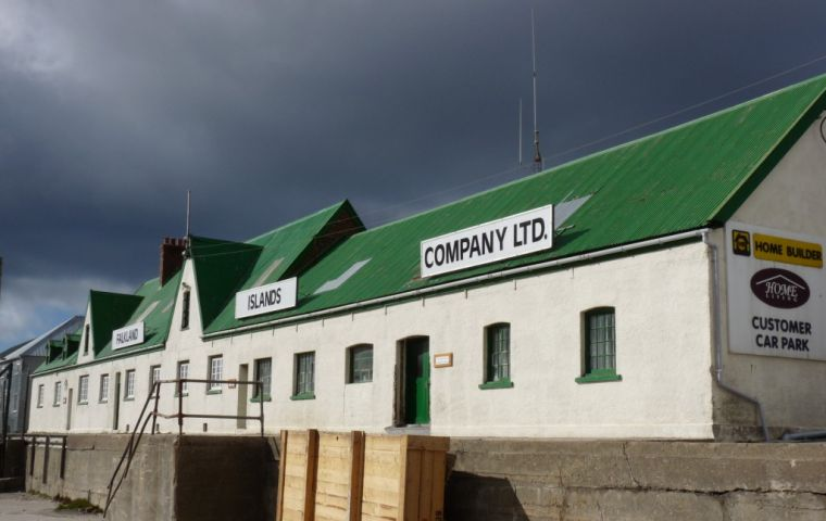 The company said performance in its trading subsidiaries has been satisfactory, with record trading in the Falklands