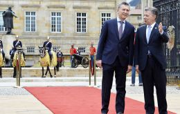 """Mercosur needs a greater integration dynamics and must be open to work with other regional blocks such as the Pacific Alliance"", Macri said at the Nariño Palace."