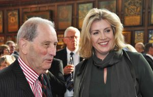 Major General Julian Thompson & Armed Forces Minister Penny Mordaunt MP