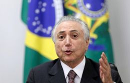 "Temer said ""anyone who would have committed the irresponsible crime"" of using corruption money for electoral campaigns ""is not fit to govern this country."""