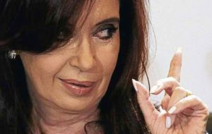 Cristina Fernandez, former protector of Lopez said the money was not hers but investigation should target contractors and suppliers