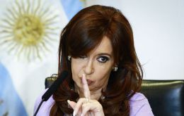 "A majority of Argentines, 63% believe ex president Cristina Fernandez was ""aware"" of the corruption actions attributed to her ex Public Works minister"