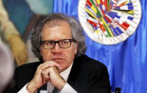 On Thursday OAS' secretary-general, Luis Almagro, is scheduled to blast the Venezuelan government over the current political and social situation